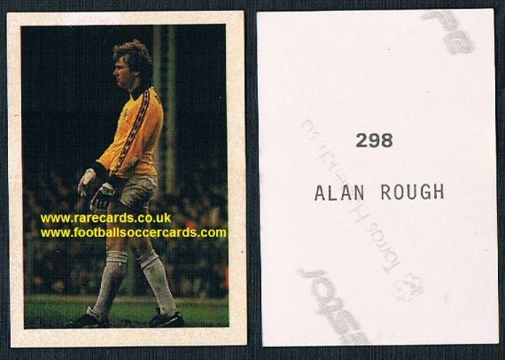 1983 Quadriga-Scandinavia Tips Fodbold 82-83 298 Alan Rough Partick Hibs